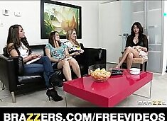 Sex starved wife is fucked hard by her lesbian GF with a strap-on