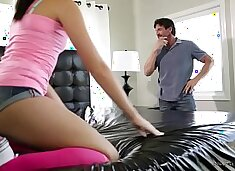 Come on Dad, we don`t have to be completely naked! - Avi Love and Tommy Gunn