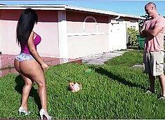 BANGBROS - Latina Rose Monroe`s Big Ass Bouncing On Sean Lawless`s Cock