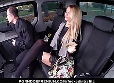 VIP SEX VAULT - Flawless Czech blondie Karina Grand gets fucked hard in the car