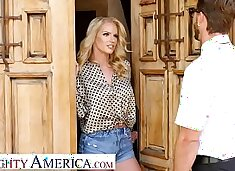 Naughty America - Rachael Cavalli fucks a virgin friend of her son