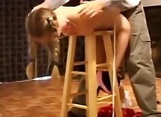 young blonde slave training