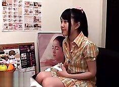 Japanese teen massage turns in crazy sex