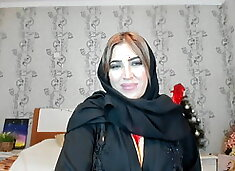 Turkish woman playing with her ass