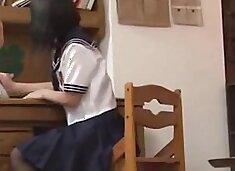 Japanese Schoolgirl Brought Her Friend home