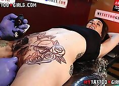 Marie Bossette gets an extreme pussy tattoo