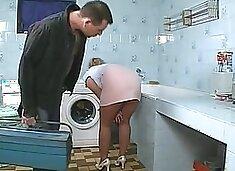 Repairman fixes her instead of machine