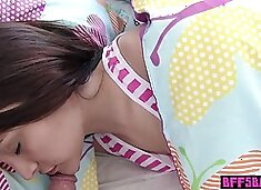 Hot teen stepsister fucked next to her sleeping BFFs