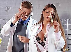Nerdy babe Cathy Heaven fucked and fisted at the office