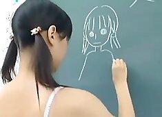 japanese schoolgirl nude in classroom