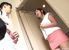 Adorable Japanese abbe massaged and fucked by a horny stranger