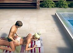 Stepson has anal at pool with stepmom