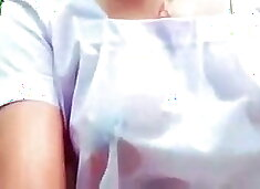 Sri Lankan School girl has outdoor fun in uniform