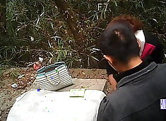 Asian MILF Prostitute Creampied Outdoors