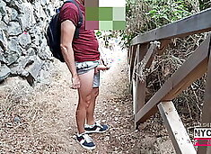 Wanking in the nature