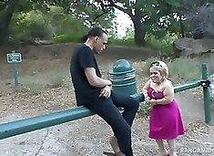 Blonde Midget Stella Gets A Huge Cock