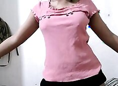 desi college girl perfomring on live indian cam show
