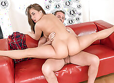LETSDOEIT  Flexible Teen Opens Her Legs On The Casting Couch