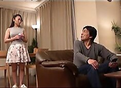 Japanese hot wife got fucked by husbands boss