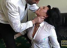 Hot MILF Candi Kayne ravished by a kinky master during a fuck
