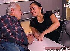german 18yo daughter teen fucks old grandpa father first time