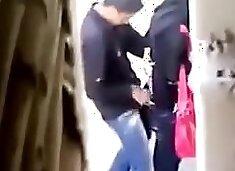 Hidden Webcam Caught Arab College Paramour Public Place Sex