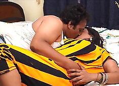 Indian aunty Sucharita has sex with husband, big boobs