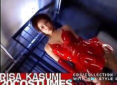 Incredible Japanese girl Risa Kasumi in Exotic Latex JAV video