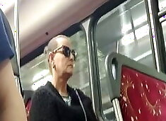 Old bitty watches bulge on bus